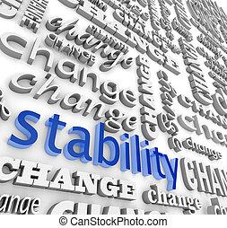 stabiliteit, bevinding, midst, veranderen