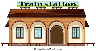 stacja, biały, pociąg, tło