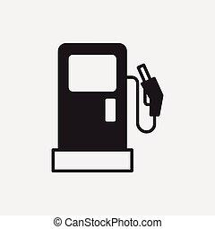 stacja, gaz, ikona