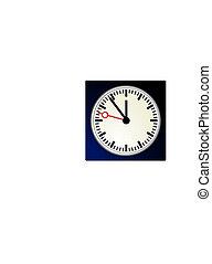 stacja, zegar