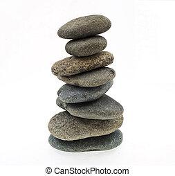 stack, av, kiselsten, stenar