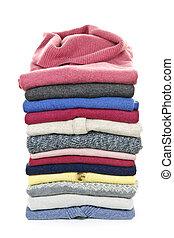 stack, av, tröjor