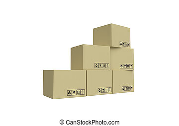 Stack Cardboard Boxes