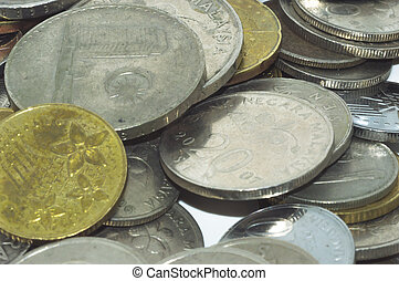 Stack coin background
