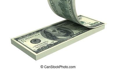 stack., dollars, voler loin