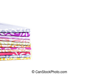 Stack handkerchief on isolated white background.
