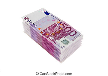 Stack of 500 euro notes