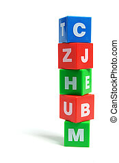 Stack of Alphabet Cubes