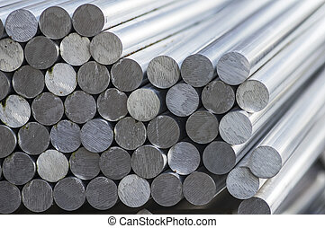 Stack of aluminium bars