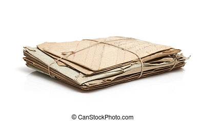 Stack of Antique Mail