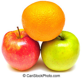 stack of apple and orange