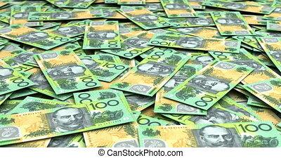 Stack of Australian Dollars (seamless)