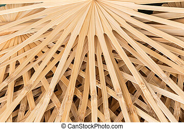 Stack of bamboo use for handmade umbrella