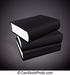 stack of blank books