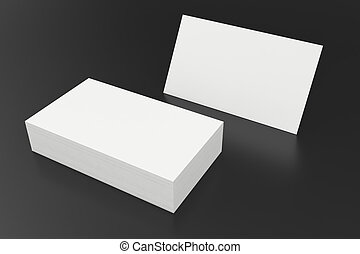 3d rendering of business card blank template black business cards stack of blank business card on black background 3d rendering accmission Gallery