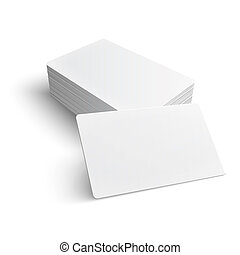 Stack of blank business card. - Stack of blank business card...