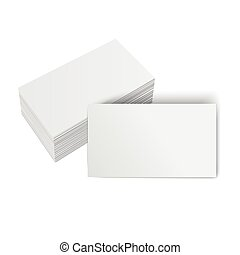 stack of blank cards