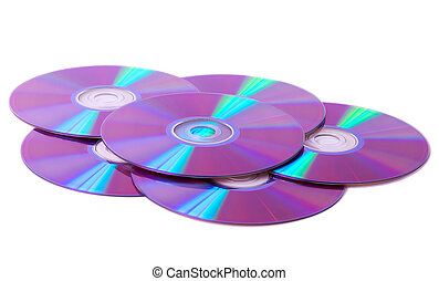 Stack of blank dvd