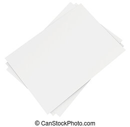 Stack of blank white sheets
