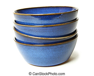 Stack of Blue Bowls