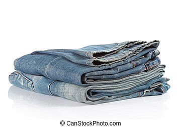 blue jeans on a white background