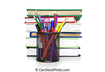 stack of book on white