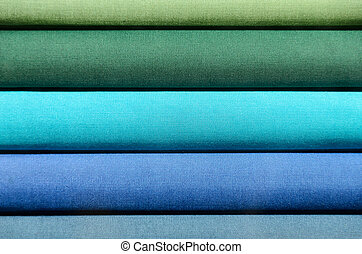 Stack of Book spines covered with linen for background purpose