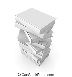 Stack of Books 2 - 3D Illustration.