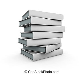 3D render of a stack of books