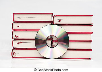 Stack of books and CD
