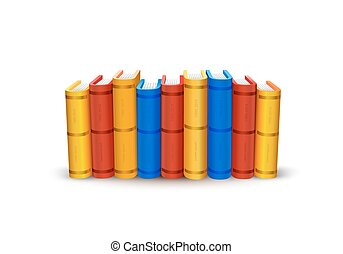 Stack of books art color object.