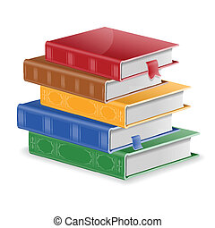 Stack of Books - Back to School Concept - Stack of Colored...