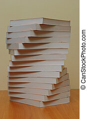Stack of books close-up