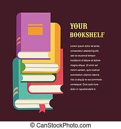 stack of books concept design