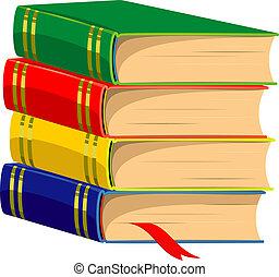 Stack of Books. Vector illustrotion. Over white. EPS 8, AI,...
