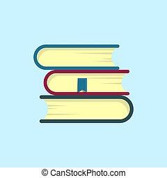 Stack of books flat. vector modern design illustration