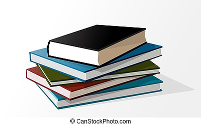 Bücherstapel gezeichnet  Stack of books Vector Clipart Royalty Free. 2,839 Stack of books ...