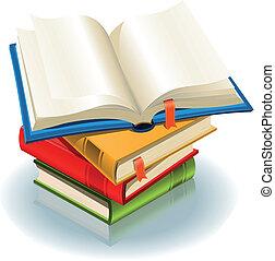 Stack Of Books - Illustration of a stack of elegant books...