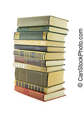 stack of books isolaited on a white background