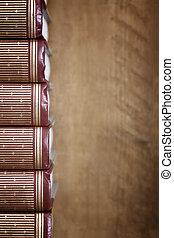 Stack of Books on Bookshelf
