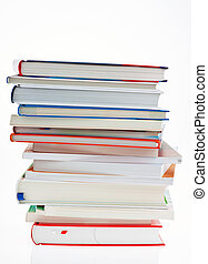 stack of books. isolated and isolated against a white...
