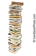 Stack of books - Large stack of books isoltaed on the white
