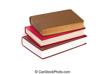 stack of books - stack of three books piled as steps