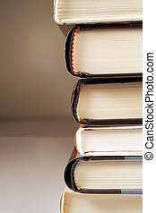 Stack of Books - A stack of books shot on a sideview.
