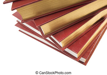 Stack of Books Isolated on a White Background.