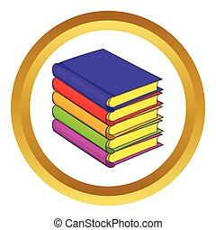 Stack of books vector icon