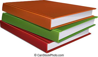 Stack of books. Vector illustration