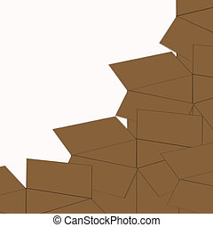 Stack of Boxes - Graphic of stack of boxes on white...