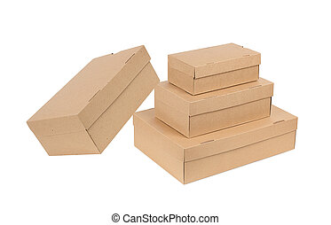 Stack of boxes isolated