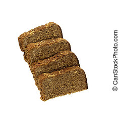 Stack of Bread isolated on white